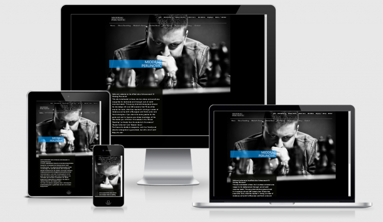 Miodrag Perunovic official website design